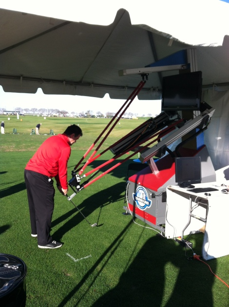 Tourbound - This is a golfing robot. It is an instructional tool to help golfers find and feel the correct swingplane.