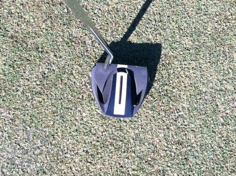 Wilson Staff's Vizor putter features a red line to show the player when the putter is not properly soled or lined up.