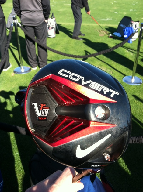 Nike's VRS Covert Driver features a cavity to move weight toward the heel and toe.