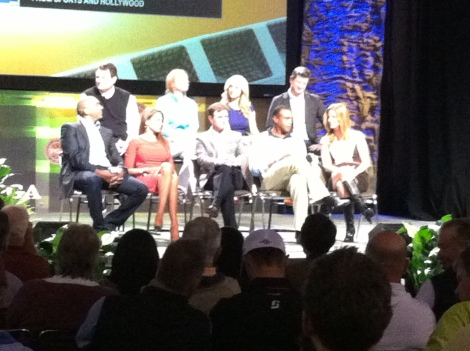 The new cast of Morning Drive clockwise from the top: Charlie Rymer, Annika Sorenstam, Lauren Thompson, Matt Ginella, Kelly Tilghman, Ahmad Rashad, Gary Williams, Holly Sonders, Damon Hack.