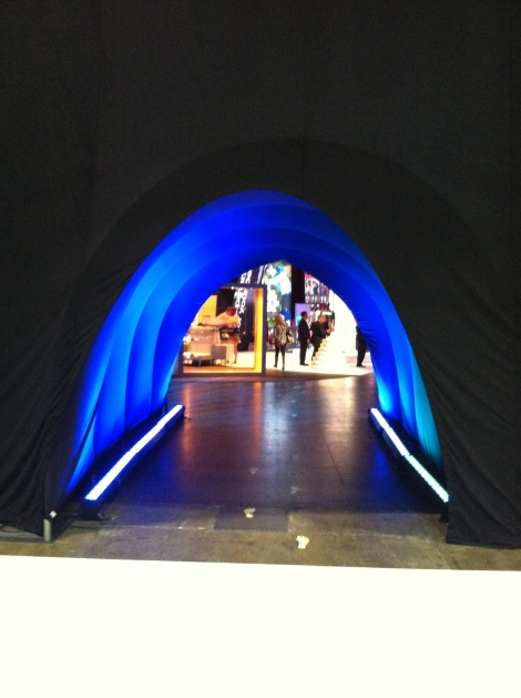 The entrance to the TaylorMade-Adidas area
