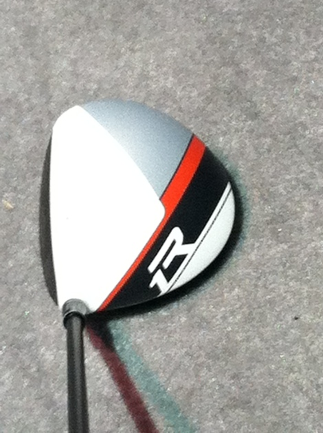 The familiar white crown of the R1 driver with a racing stripe.
