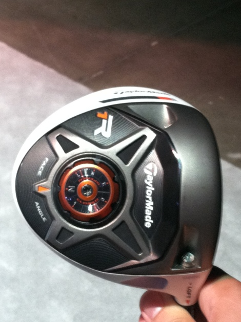 The sole of the R1 driver shows its many adjustable features.