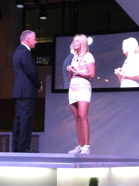 Paula Creamer at the TaylorMade-Adidas Booth at the PGA Merchandise Show.