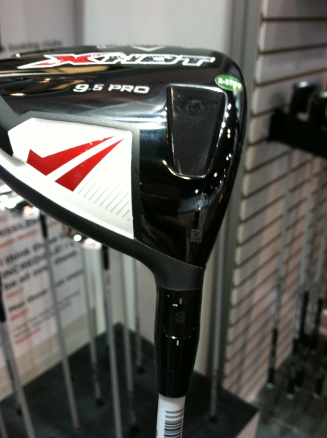 The adjustable hosel on the XHot driver.