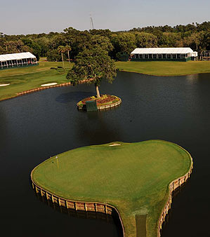 The famous 17th Island Green at TPC Sawgrass.