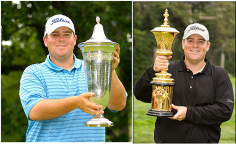 [Left: Colt Knost with US Amateur Public Links Trophy. Fred Vuich/USGA Right: Knost with the US Amateur Trophy John Mummert/USGA]