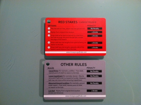 The back of the tags lists the options you have for the given rules.