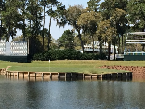 The 17th green from The Players tee.